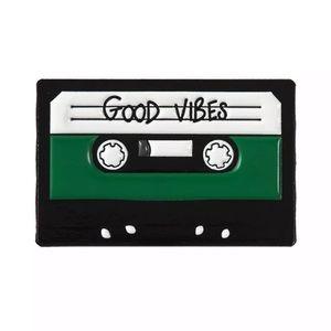 4/$20 Good Vibes Vintage Cassette Tape Enamel Pin